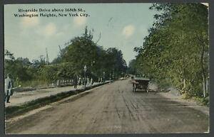 New-York-City-NY-c-1910-Postcard-RIVERSIDE-DRIVE-ABOVE-168TH-ST-WASHINGTON-HTS