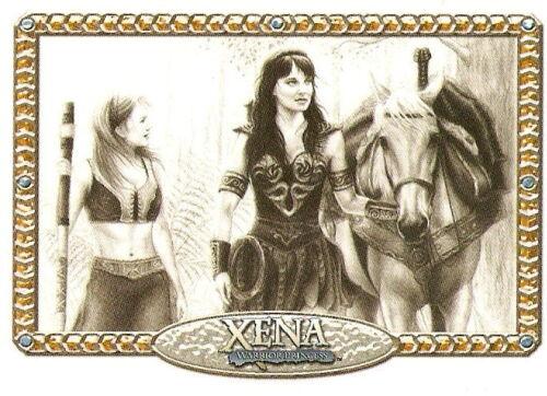 Xena Art Images Artifex imsert trading card NA8 art by Rebekah Lynn