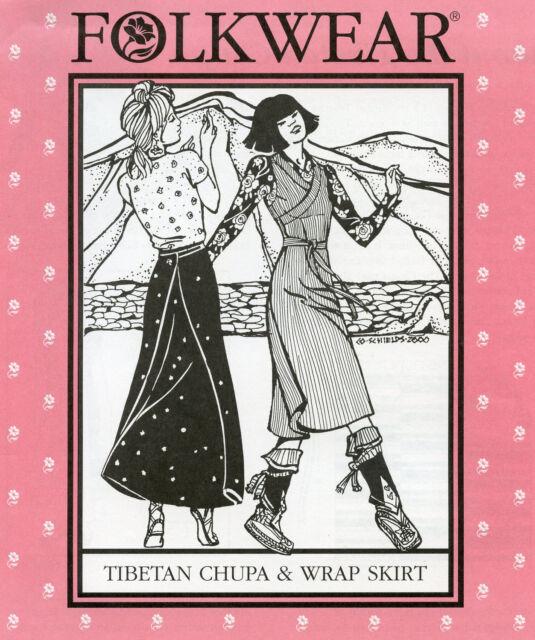 Folkwear 131 Tibetan Chupa And Wrap Skirt Traditional Costume Sewing