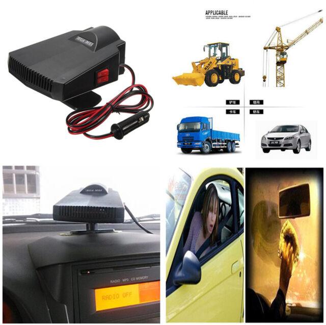 Portable Ceramic Heater Cooler Dryer Defroster Demister for Car Window Warmer