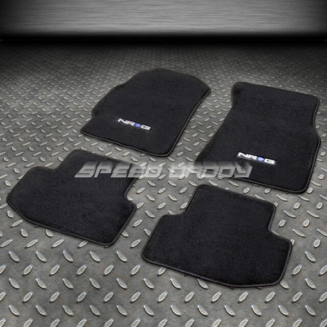 FOR 94-01 ACURA INTEGRA LS/GS/RS/GSR NYLON BLACK FLOOR MATS/CARPET W/NRG LOGO