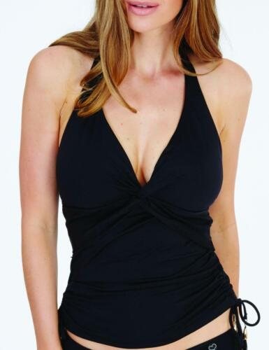 Lepel Swimwear Lagoon Halter Tankini Top 1597660 Padded Moulded Cups Black