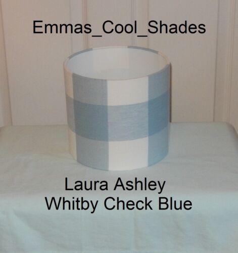 Handmade abat-jour Laura Ashley Whitby Carreaux en Tissu Bleu Vichy 30 CM BESPOKE