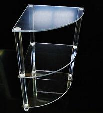 Tavolo Tavolino Angolare Plexiglass Trasparente 35x35x63 Design Moderno