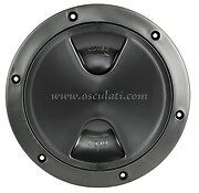 Round Inspection Hatch Access Hole BLACK 125mm 5 INCH Boat INSPBK125
