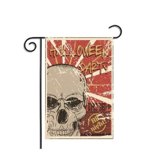 New Christmas Halloween Welcome Fall Garden Xmas Flag Banner Decor 30X45cm