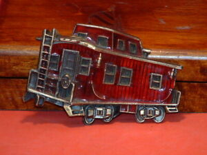 Pre-Owned-American-Chicago-Buckle-Train-Car-Belt-Buckle