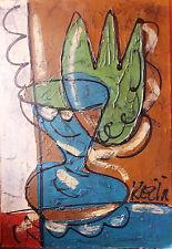Bohumil Samuel KECIR 73 x 50 cm – ÖLGEMÄLDE STILLEBEN - TULPE ABSTRAKT, KUBIST
