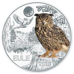 3-Euro-2018-Osterreich-Austria-owl-Eule-in-Muenzkapsel-mit-flyer