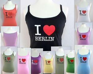 Lady-Top-Shirt-I-Love-Berlin-bedruckt-diverse-Farben-XS-bis-XXL