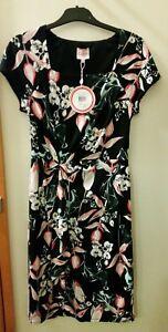 NEW-Leona-Edmiston-Square-neck-big-floral-dress-size-8-RRP-129-95