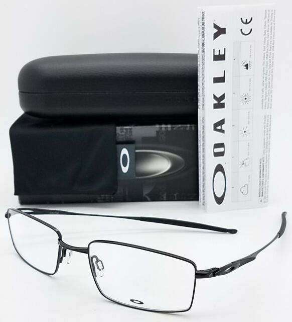 83240f32b80 NEW Oakley OX3136 RX Eyeglass Frame Black OX3136-0253 53mm Rectangle Wire  Square