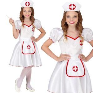 Krankenschwester Kinder Kostum Gr 140 Kleid Mit Haube Fasching