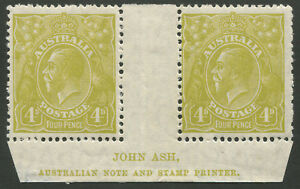 KGV-Heads-Small-Multiple-Watermark-Perf-13-x-12-1924-38-SG-102-4d-Olive