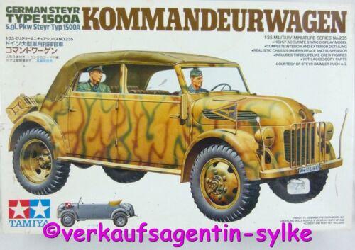 ungebraucht 1:35 Tamiya German Steyr s.gl.Pkw Typ 1500A Kommandeurwagen 9