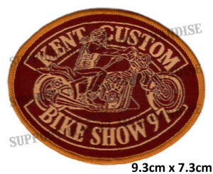 HELLS-ANGELS-KENT-CUSTOM-BIKE-SHOW-1997-Patch-HIGHLY-COLLECTABLE-RARE-KBCS