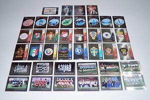 PANINI-EM-08-Euro-2008-Alle-40-Wappen-shiny-badges-Sticker-Neu-new