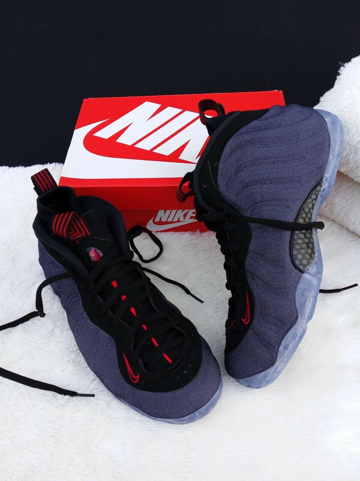 detailed look 18a0c 6eb5b ... SIZE 11 MEN S Nike Air Foamposite One Denim Denim Denim Obsidian Black  314996 404 SNEAKERS af1e11 ...