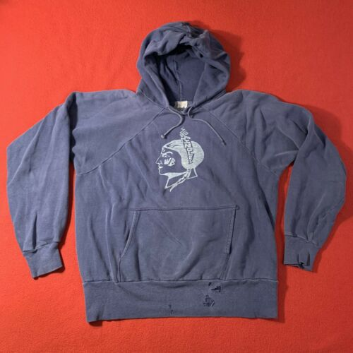 vtg Brent sweatshirt hoodie 50s 1950s 46-48 XL Blu