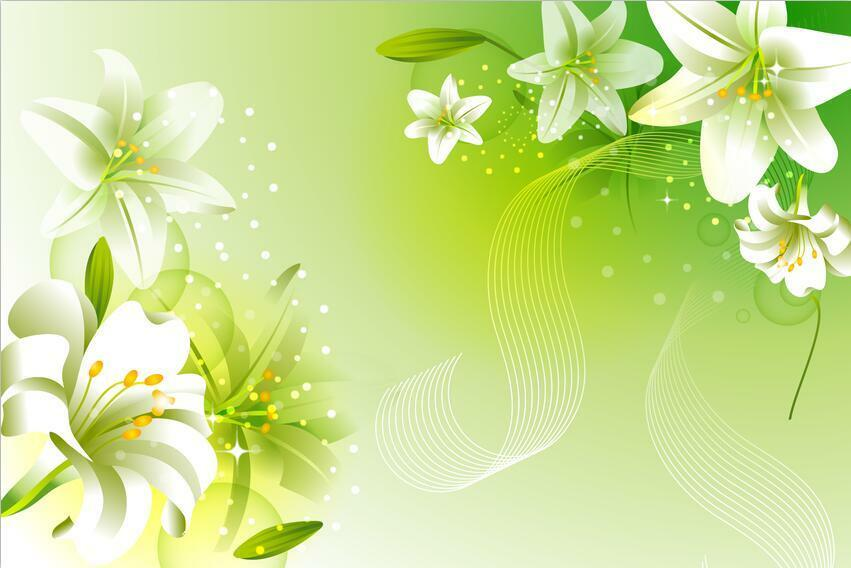 3D Weiß Lily Flower Plant 432 Wall Paper Wall Wall Wall Print Decal Wall AJ WALLPAPER CA ab8a48