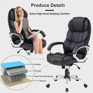 Home Office Chair Massage Desk Chair Ergonomic Computer Chair With Lumbar Ebay