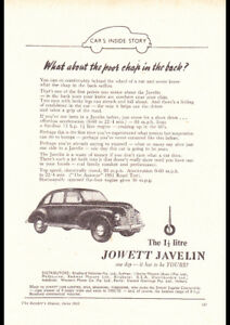 1952-JOWETT-JAVELIN-AD-A4-POSTER-GLOSS-PRINT-LAMINATED-11-7-x8-3