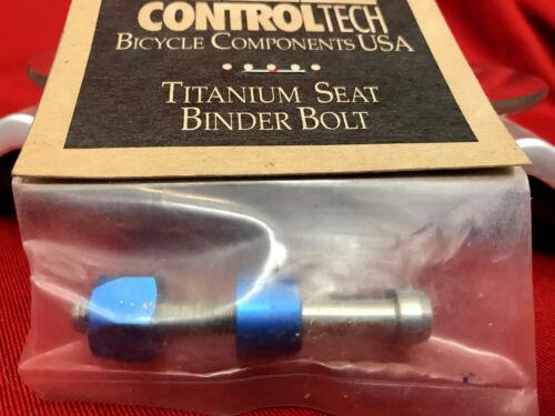 Vintage NOS Controltech TITANIUM SEAT BINDER BOLT blue green red black silver