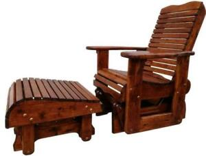 Handmade Ontario Insects/weather Resistant Cedar Patio Deck Gliders Gliding Rockers Rocking Chairs Ontario Preview