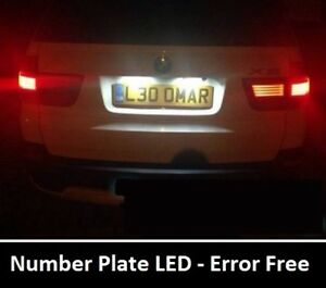 PREMIUM BMW E46 E39 E60 E90  Error Free Xenon White LED Number Plate Bulbs