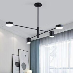 Black Pendant Light Led Large Chandelier Lighting Modern Ceiling Lamp Home Light Ebay