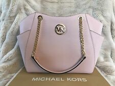 NWT MICHAEL KORS LEATHER JET SET TRAVEL LARGE CHAIN SHOULDER TOTE BAG IN BLOSSOM