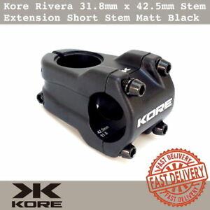 Red Kore Rivera Stem Clamp 31.8mm x 42.5mm Extension MTB DH Short Stem Black
