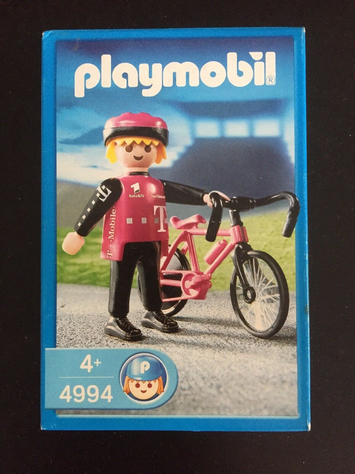 Playmobil 4994 Sonderfigur mit Rad Zeitfahren Telekom T-mobile Tour de France