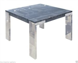 Modern Coffee Table Marble Top Coffee Table End Table Laterza - Grey marble top coffee table