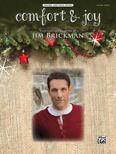 "JIM BRICKMAN ""COMFORT & JOY"" PIANO SOLO/KEYBOARD SHEET MUSIC-BRAND NEW ON SALE!!"