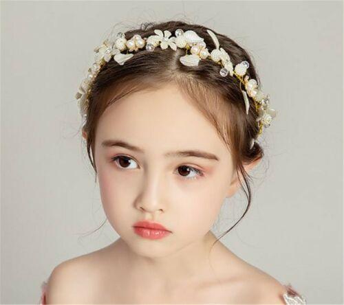 Boho White flower Girl Lady Golden leaf Party Hair Head band Headband Fascinator