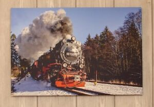 Leinwandbild Canvas Wandbilder Kunstdruck Züge Lokomotiven Deutsche Bahn Berlin