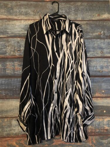 Rare Vintage Genelli Silk Shirt Men's Sz XXL!
