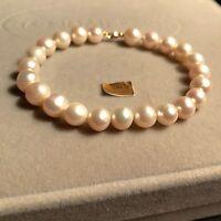 Bracelet Perle De Culture En Or Jaune 750/000 18k