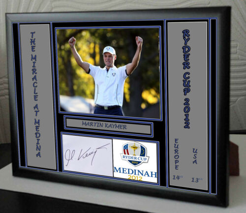MARTIN KAYMER SIGNED Framed Canvas Portrait Signed