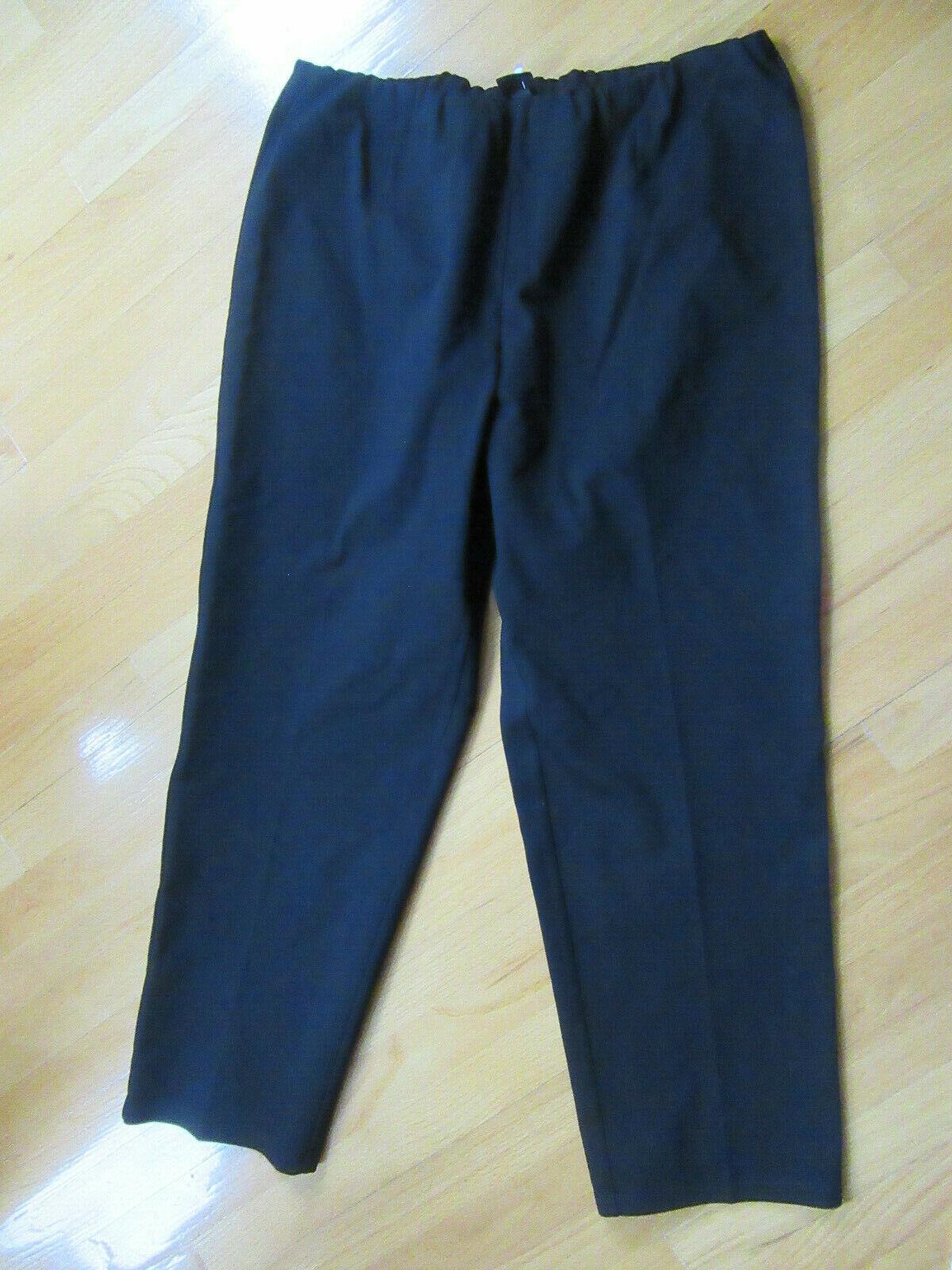 Nouveau Eileen Fisher schwarz Extensible Größe Élastique Pantalon Größe 2X