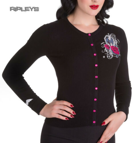 HELL BUNNY Ladies KALONICE Cardigan Top Black Pink Princess All Sizes