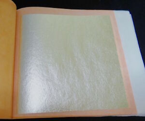 "GENUINE SILVER LEAF SHEETS SIZE : 3.75"" X 3.75""(Loose & Transfer)"