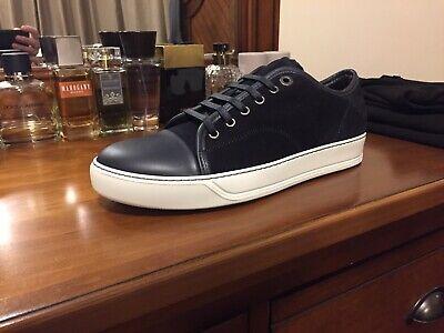 Lanvin Suede Leather Cap Toe Sneaker