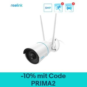 Reolink 5MP AI Überwachungskamera 2,4/5 GHz WLAN Outdoor Kamera mit Audio 510WA