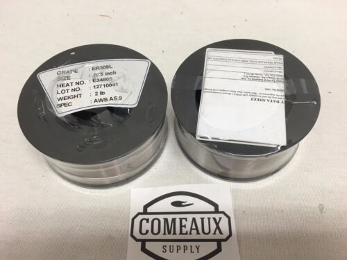 2 Rolls ER309L .035 2# Spool  stainless steel welding US Seller Comeaux Supply