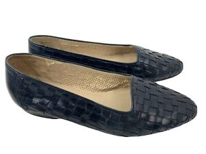 Enzo-Angiolini-Genius-Woven-Slip-On-Women-039-s-Shoes-Size-10-N-Black
