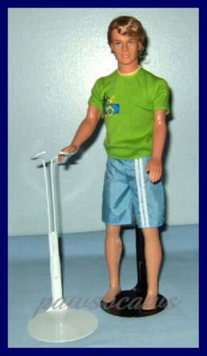 WHITE Kaiser Doll Stand For KEN 12 Action Figure U.S. SHIPS FREE