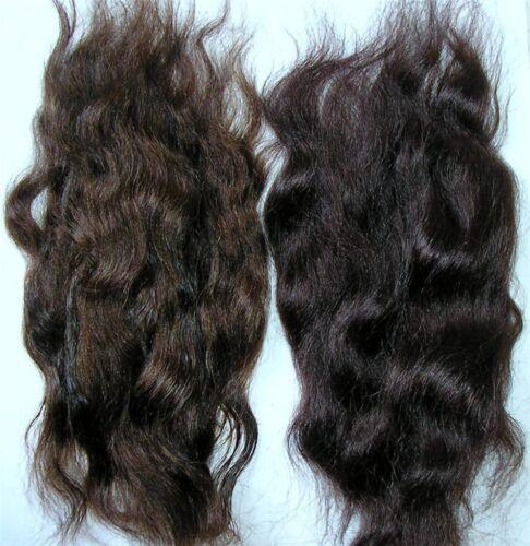 BROWN DUO  14GRAMS //HALF OUNCE REBORN MOHAIR DOLL//TROLL//PUPPET HAIR WAVY