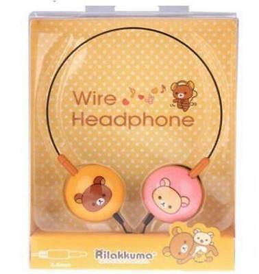 Kawaii SAN X Rilakkuma + Korilakkuma Wire Head Phones! Rare!